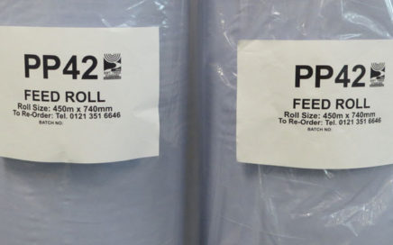 PP42 Three Day Chick Paper Feed Roll (Blue)